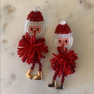 BOGO! Beaded Santa Earrings
